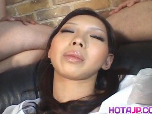 Mimi aroused with vibrator sucks phallus